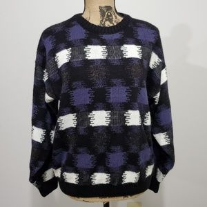 Vintage 90s Checked sweater